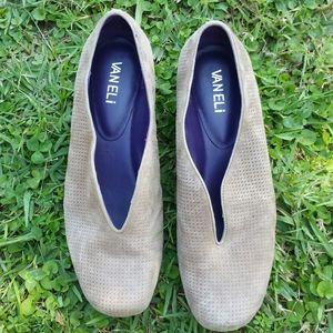 Vaneli beige slip on shoes. Size 7M